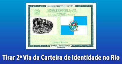 2 Via Carteira De Identidade Rj